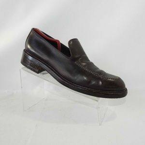 Sergio Rossi Sz 10 Brown Loafers Dress Mens Shoes